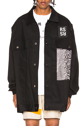R Oversized 'JOY DIVISION' Printed Denim Jacket(제작중)