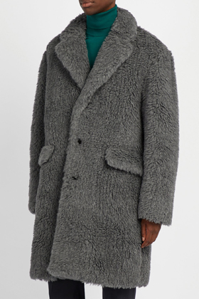 P Faux Shearling Coat