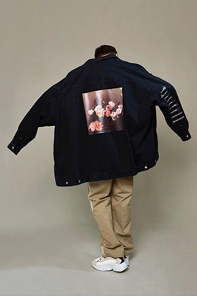 RAF Flower Oversized Denim Jacket