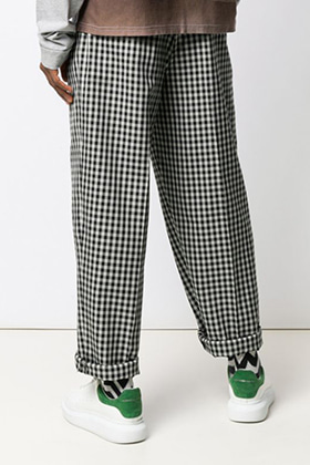 M Gingham Check Pants