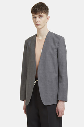 MM Collarless Blazer(Gray)
