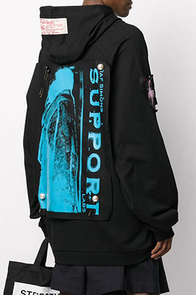 R Oversized Patch Point Hoodie