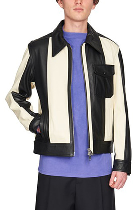 Am Bicolor Leather Jacket
