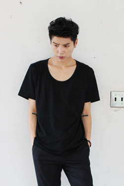 A. Wa*g Low Neck Pocket T-Shirts(단품결제창)(6차재입고)